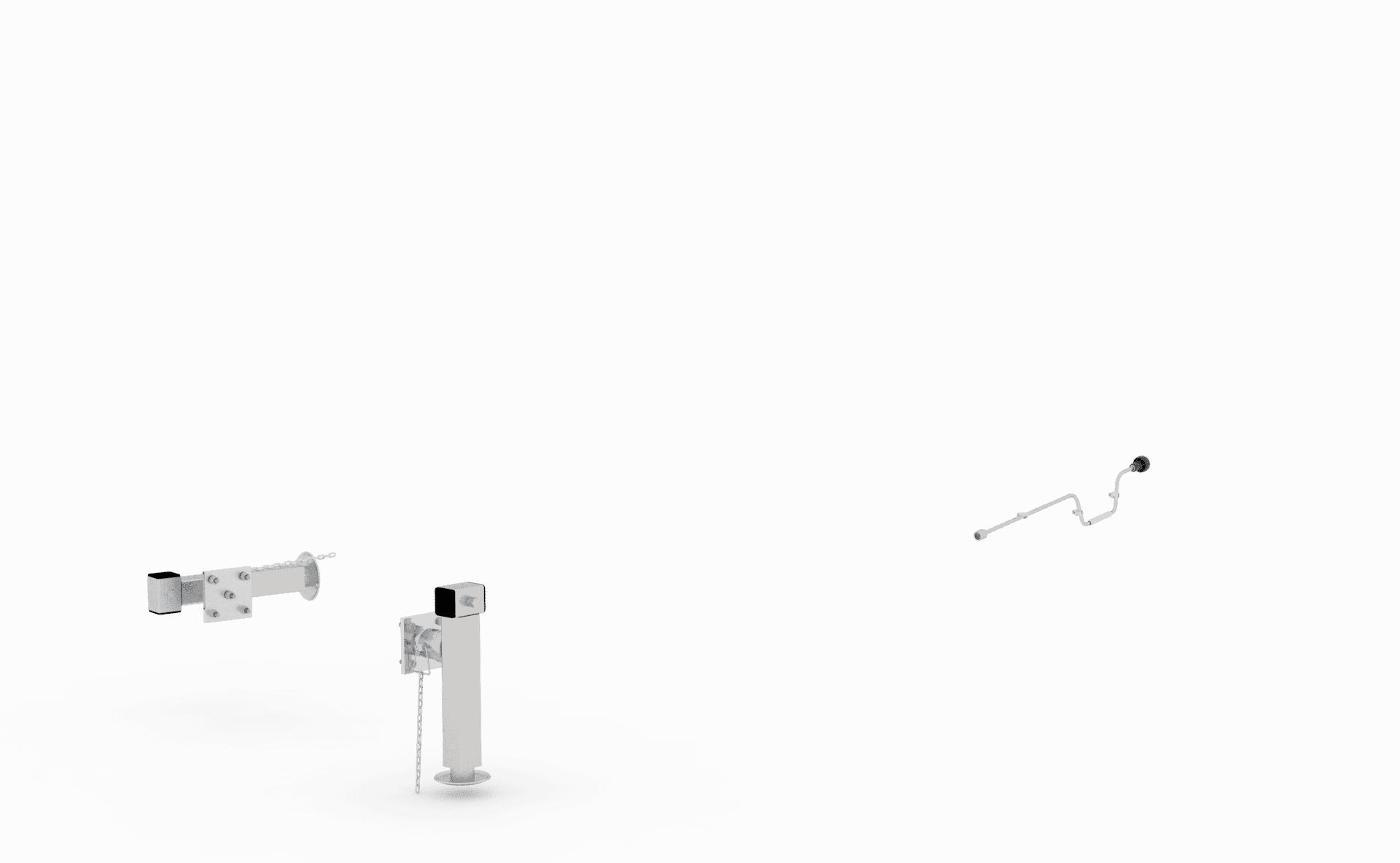 1 Paar Teleskopkurbelstütze  zu