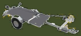 Csónakrátét (legfeljebb 4 m hosszú hajókhoz) PFA 185 U-hoz