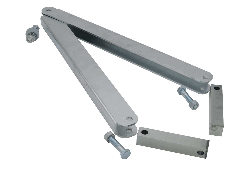 Folding axle connection for PFA 185 U