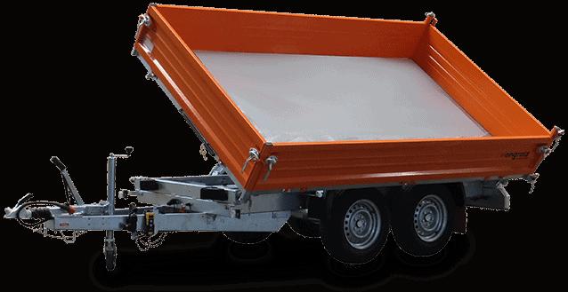 3 Seiten Kipper Anhänger orange