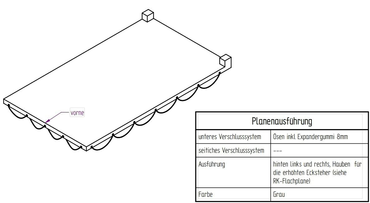 Flachplane grau zu 3-SKS 3100/17
