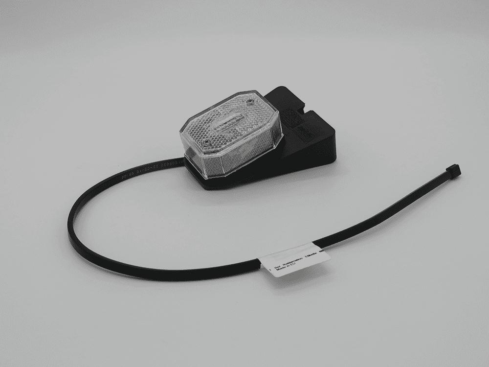 Begrenzungsleuchte Flexipoint I weiss mit Halter mit Kabel