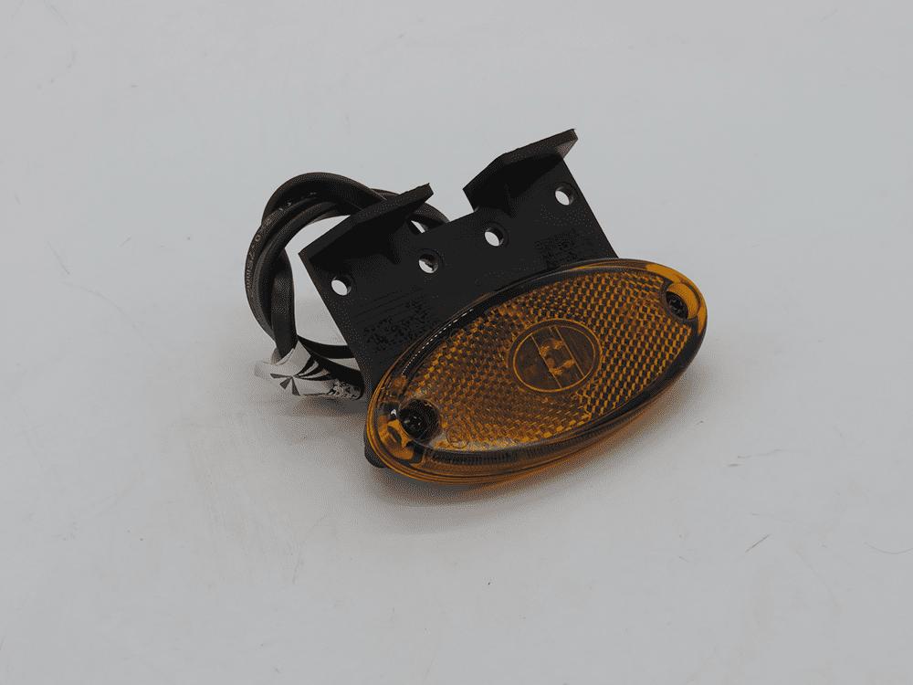 Seitenmarkierungsleuchte Flatpoint II orange mit Halter 90° mit Kabel