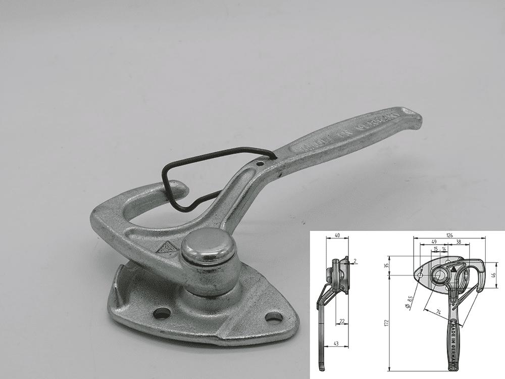 Winkelhebelverschluss links zu 3-SKS/ RK /PHL