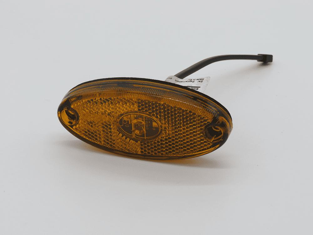 Seitenmarkierleuchte Flatpoint II orange mit Kabel für PBA
