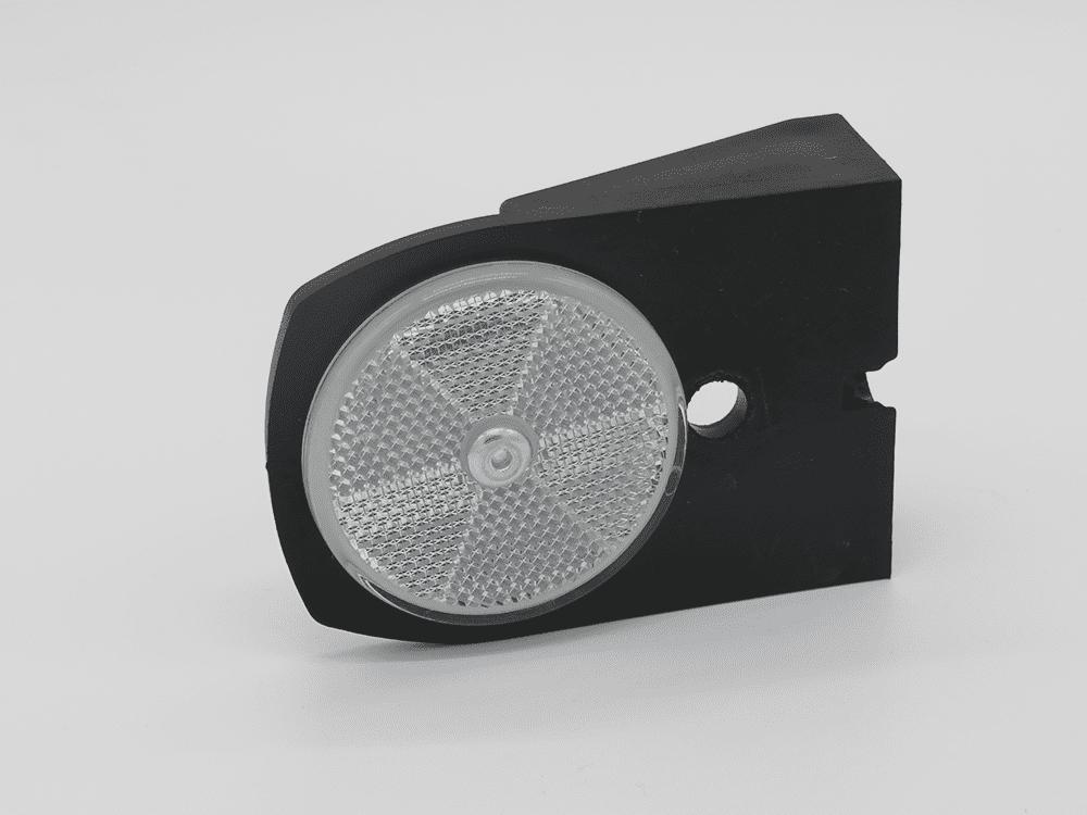 Halter 110mm mit Rückstrahler weiß Ø60mm
