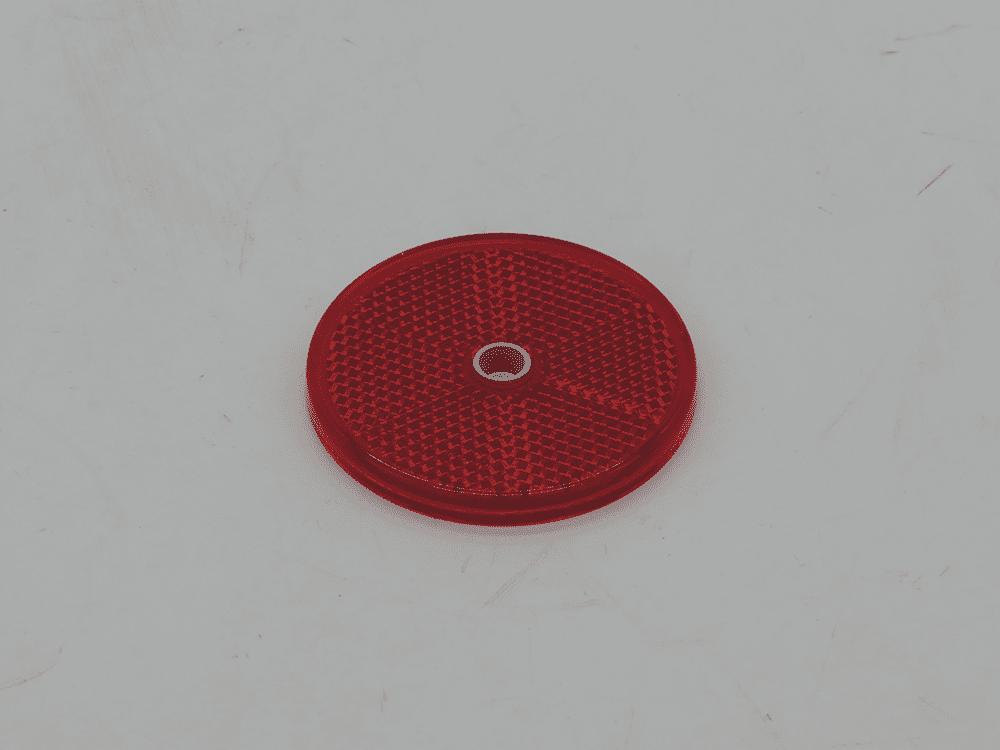 Rückstrahler rot Ø60mm Schraubbar