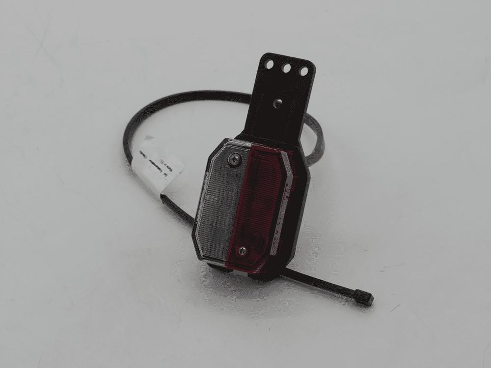 Umrissleuchte Flexipoint I rot/weiß mit Gummilasche Links mit Kabel