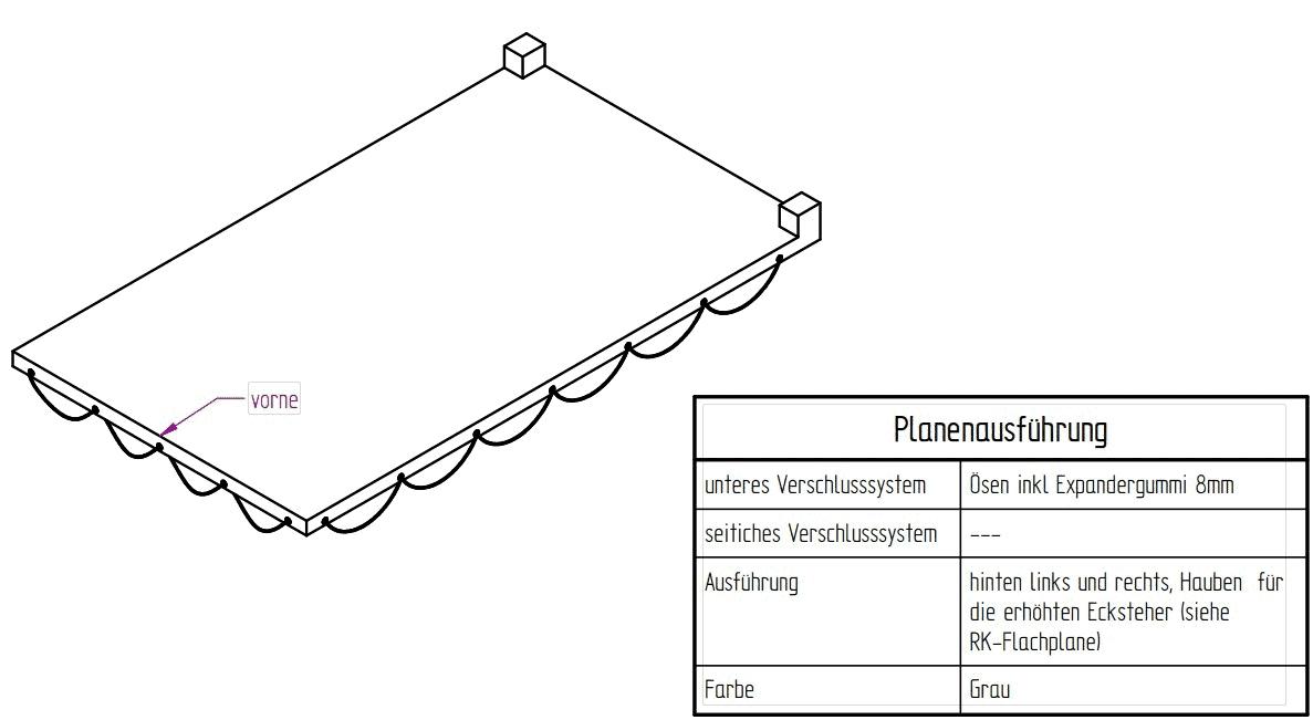 Flachplane grau zu 3-SKS 2600/17