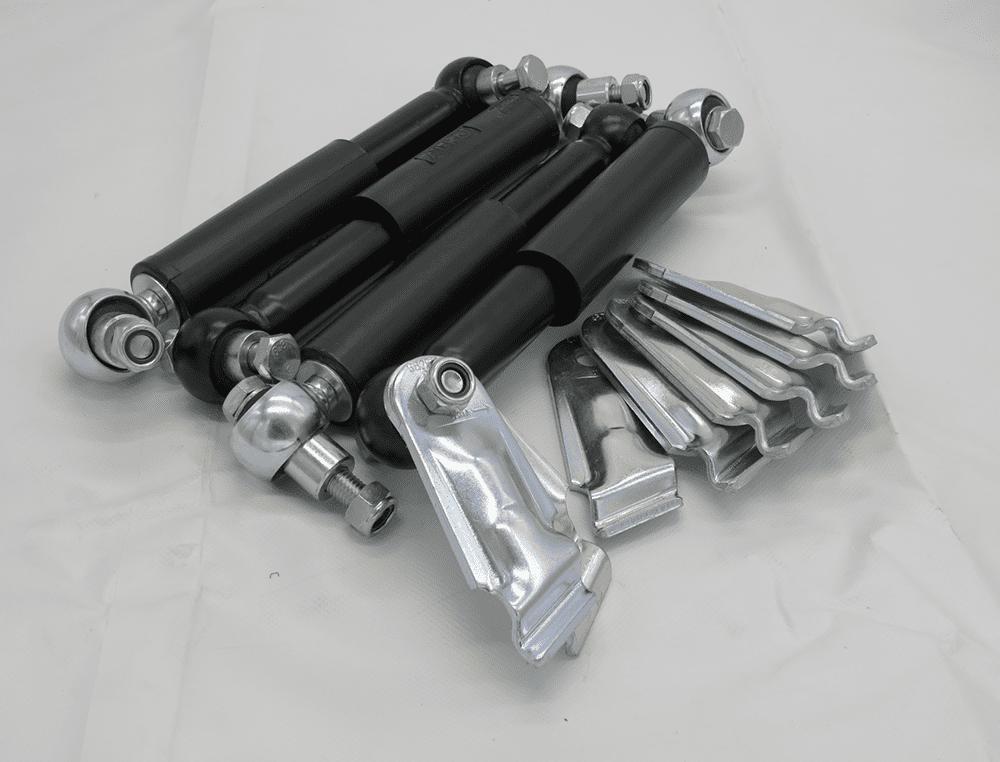 2 Paar Achsstoßdämpfer (100 km/h-Ausführung - Deutschland) Tandem