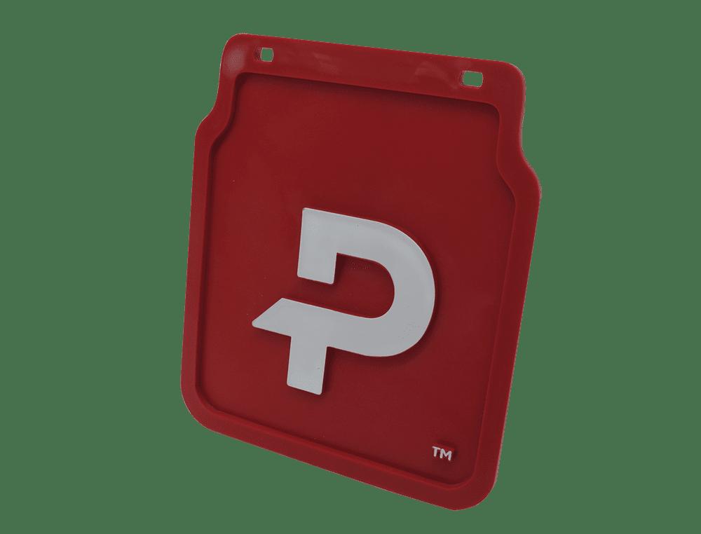 Pongratz Schmutzfänger rot mit Logo 'P'