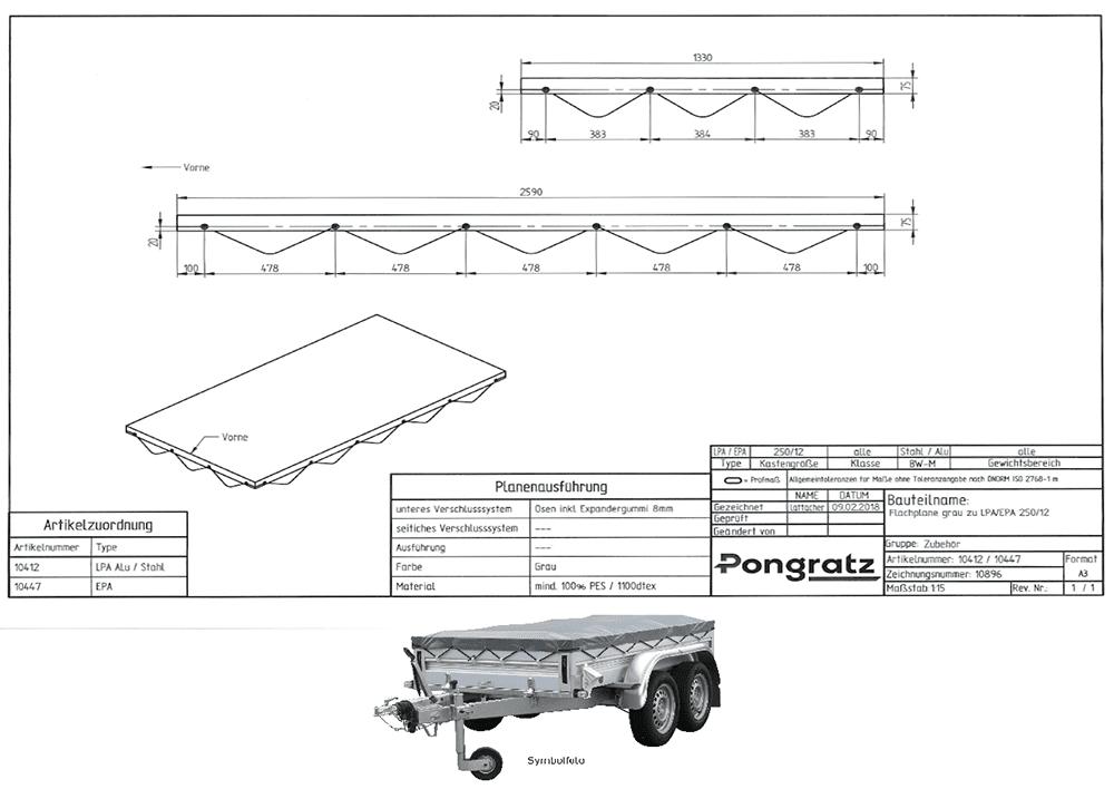 Flachplane grau zu EPA 250/12