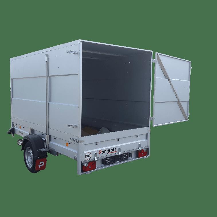 Anhänger Kofferbox als Bordwanderhöhung