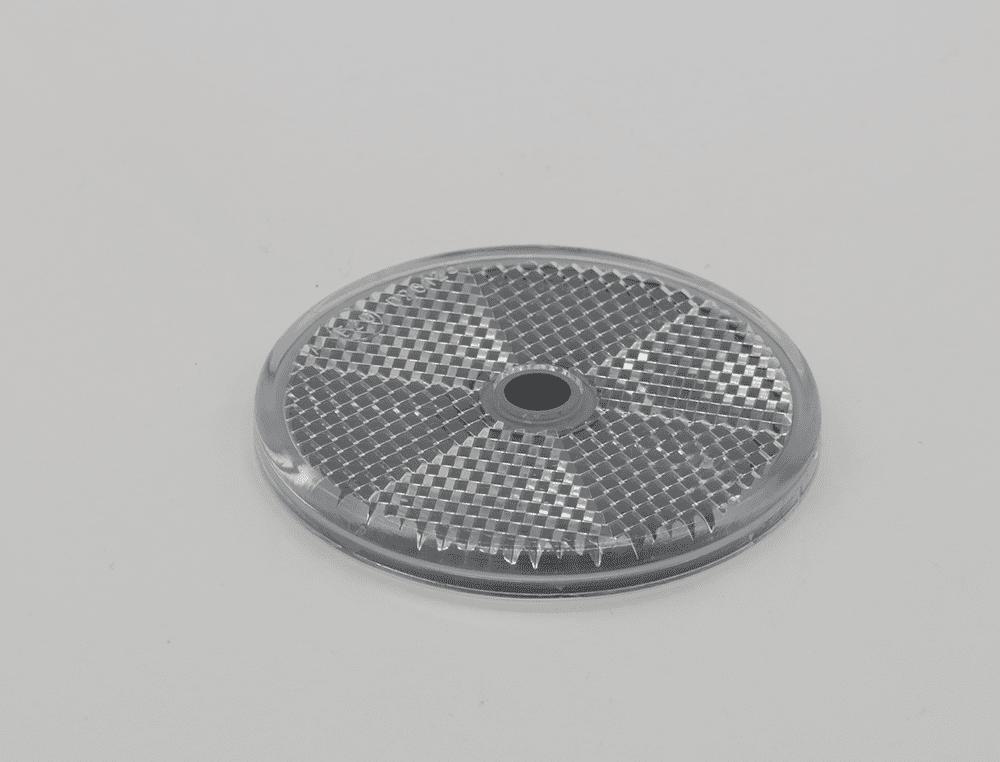Rückstrahler weiß Ø60mm Schraubbar